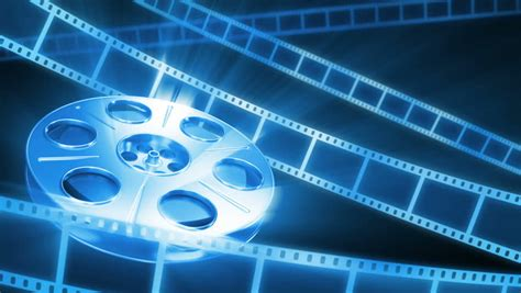 film blue wallpaper film reel background stock footage video 1581355