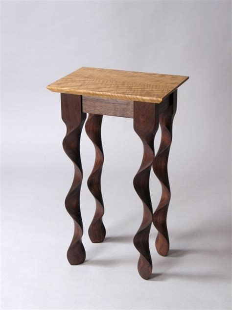 Modern Handmade Furniture - custom contemporary walnut taffy end table by david