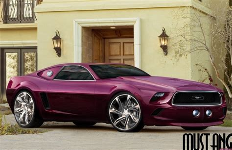 oddcars concept car ford mustang purple 2014