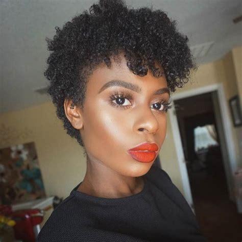 pixie cut of blackwomen on instagram 31 best short natural hairstyles for black women stayglam