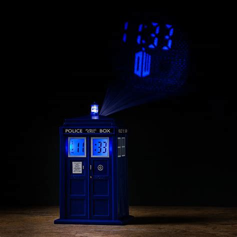 alarm clocks that project time on ceiling doctor who tardis projection alarm clock thinkgeek
