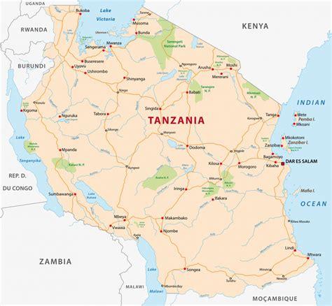 tanzania on the map kilimanjaro zanzibar holidays