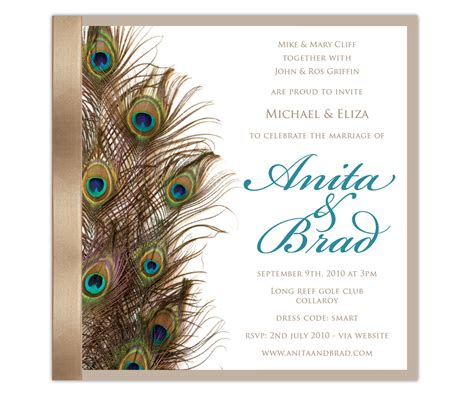 Wedding Album Design Wordings by Top Album Of Peacock Themed Wedding Invitations