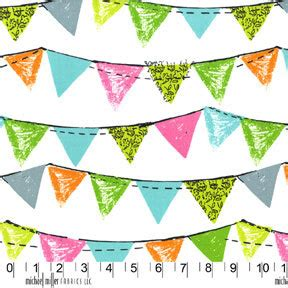Bunting Flags Banner Happy Birthday Bulat Motif Mix clearance fabric happy birthday bunting banner flags mix and match 1 2 yard from