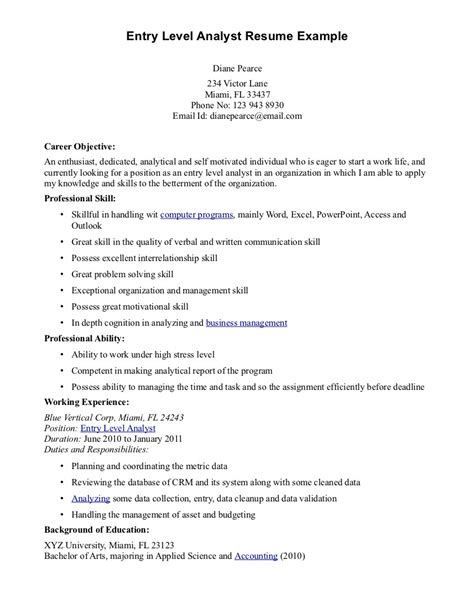 entry level resume template resume template 2017