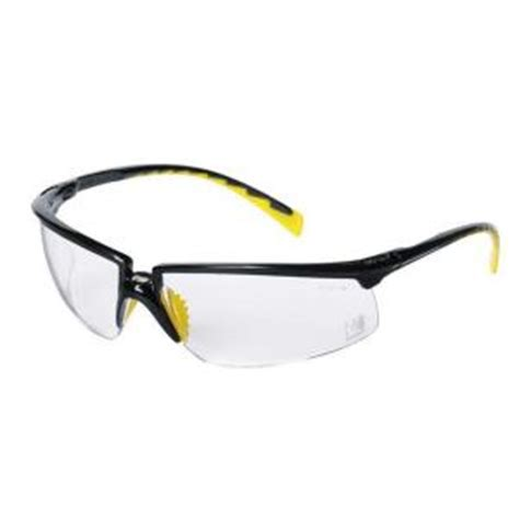 3m workwear black frame with clear lenses safety