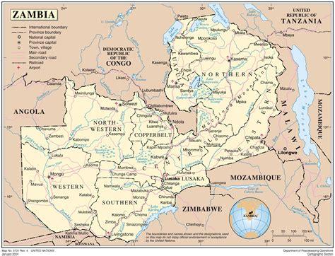 administrative map  zambia zambia administrative map
