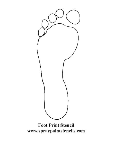 footprint template printable and stencils