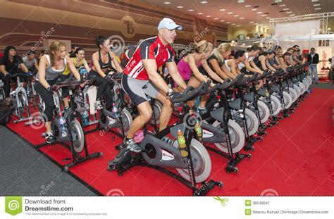 Spinning Bike Sport Id 9 2n spinning marathon challenge editorial photography image