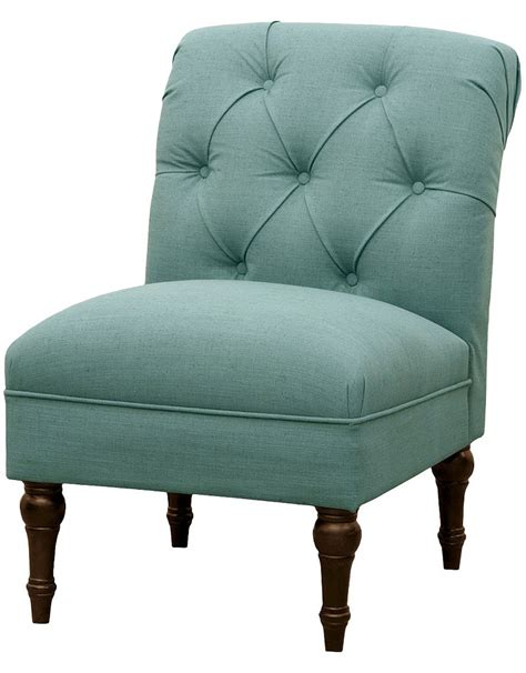 aqua slipper chair tufted back slipper chair in teal everything turquoise