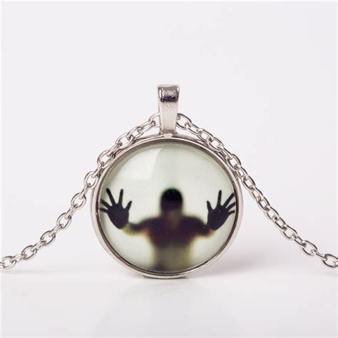 Necklace Shadow 2016 shadow style necklace glass cabochon chain