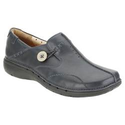 Clarks Shoes Clarks Un Loop Womens Shoes Navy Leather Charles Clinkard