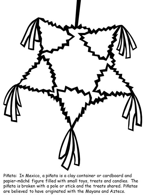 Pinata Coloring Page pinata coloring page az coloring pages