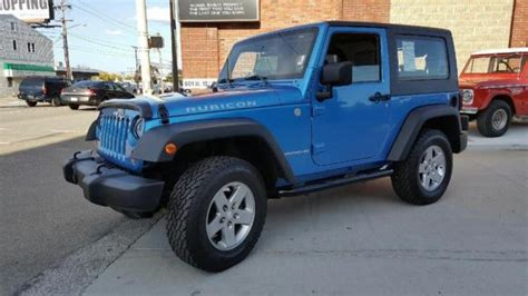 convertible jeep blue 1j4ba6d12al187926 2010 jeep wrangler rubicon 83508 miles