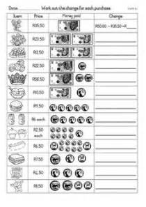 free south african money worksheets counting rand and