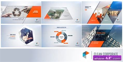 Clean Corporate 7698373 After Effects Project Videohive 187 Free After Effects Templates Corporate After Effects Template Free