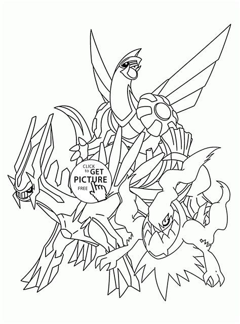 legendary pokemon coloring pages for kids pokemon