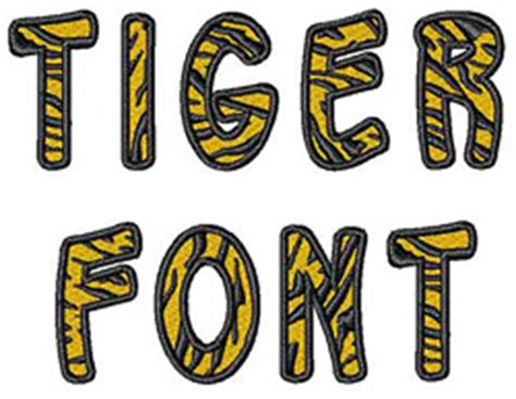 tiger pattern font styles embroidery font tiger font from embroidery patterns