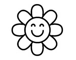 dibujo flor sencilla colorear dibujos net