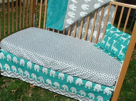 Grey And Turquoise Crib Bedding Turquoise And Gray Elephants Chevron Custom Crib Bedding
