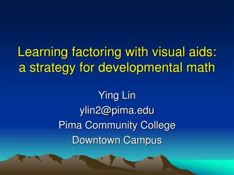 learning for the layman visual guide without maths added data sciences books ppt learning factoring with visual aids a strategy for