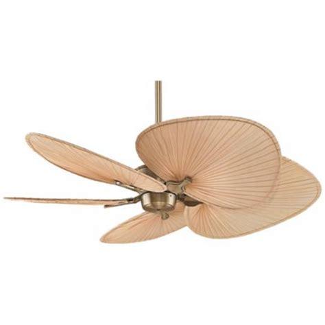 52 quot fanimation islander brass palm leaf ceiling fan