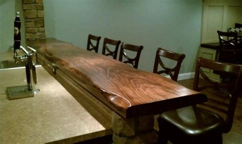 Live Edge Bar Top Live Edge Dining Tables