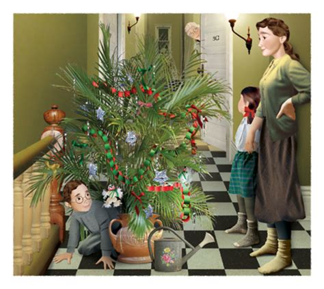 norman rockwell christmas tree christmas decore
