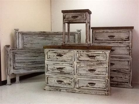 Rustic White Bedroom Furniture Promo White Distressed Bedroom Set Rick S Home Store