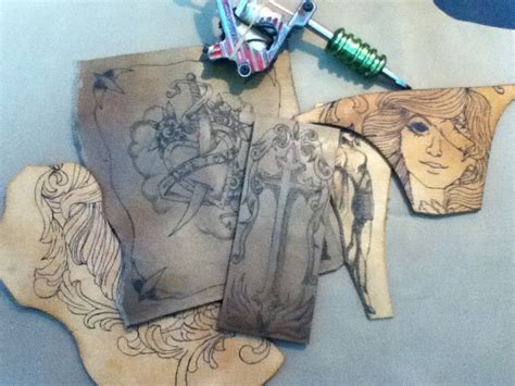 tattoo online test tattooed leather scraps and practice pieces by
