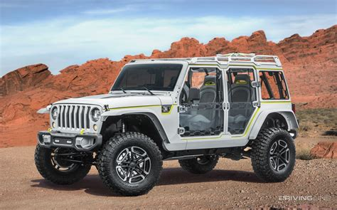 future jeep wrangler concepts unveiled 2017 jeep concept vehicles drivingline