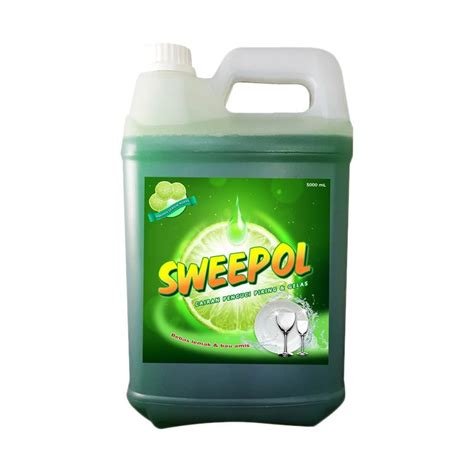 jual sweepol lime dish wash sabun pencuci piring 5 l harga kualitas terjamin