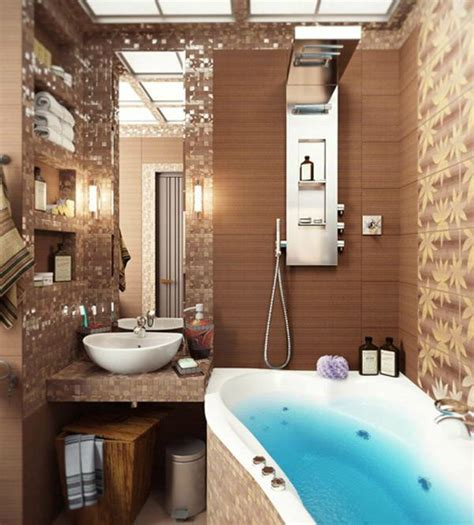 Small Rustic Bathroom Ideas by 40 Stylish Small Bathroom Design Ideas Decoholic
