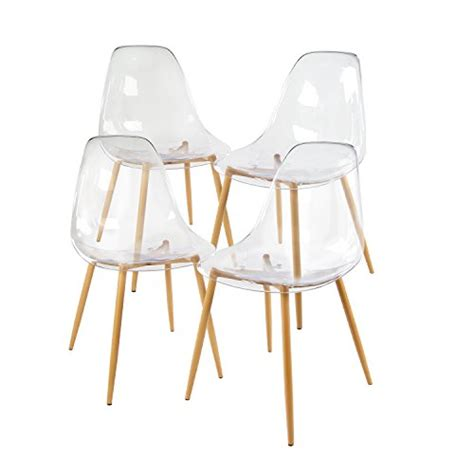 clear dining chairs set of 4 greenforest acrylic dining side chairs transparent clear