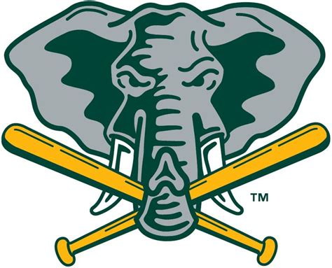 bentley university athletics logo oakland athletics alternate logo 1993 elephant holding