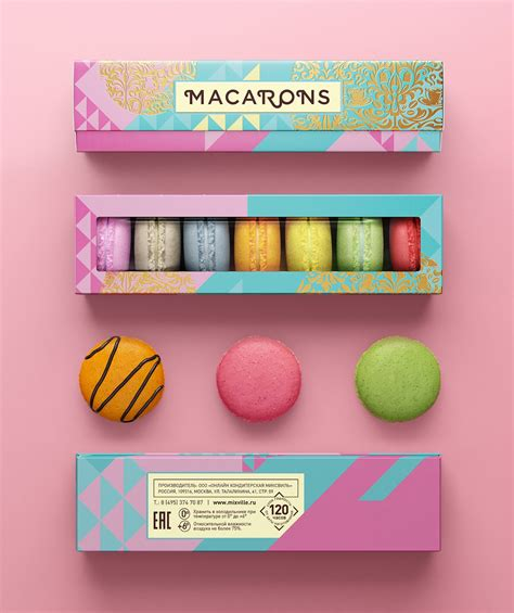 Home Interior Shelves by Colorful Macarons Confectionary Packaging Design