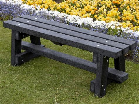 recycled garden bench ribble bench without backrest recycled plastic education