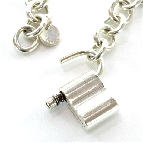 co sterling silver 1837 lock charm bracelet