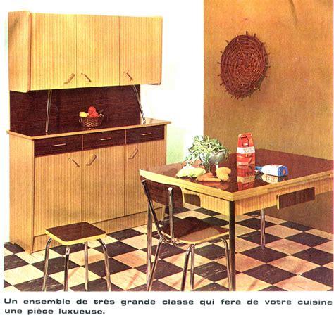 mobilier cuisine vintage mobilier vintage en formica le style populaire des annes