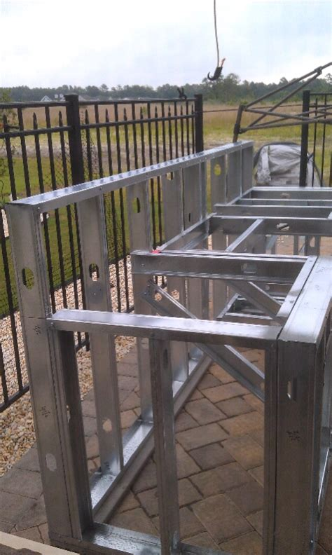 building outdoor kitchen with metal studs my parents outdoor kitchen build kitchens baths