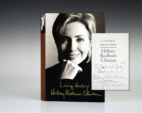 biography hillary clinton book living history hillary rodham clinton first edition signed