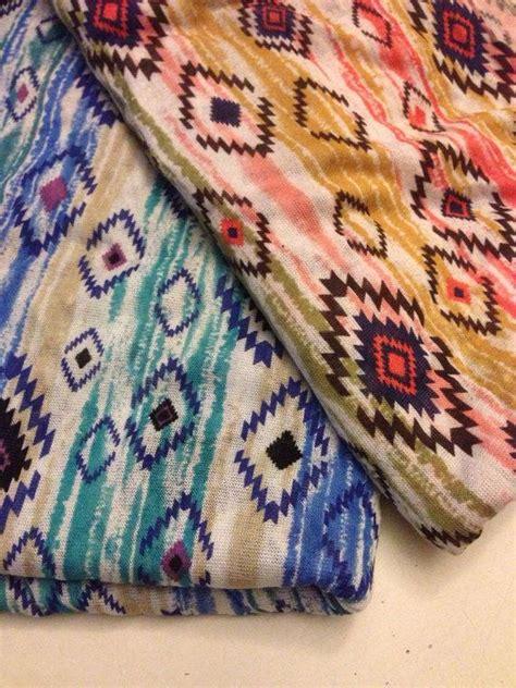 tribal pattern jersey stretchy jersey knit fabric tribal print 1 yards by
