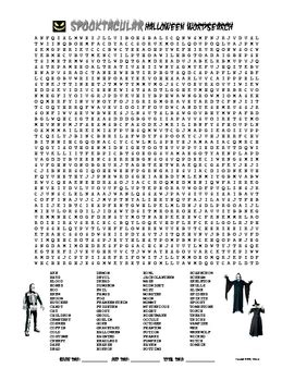 printable word searches for junior high halloween printables for middle schoolers festival