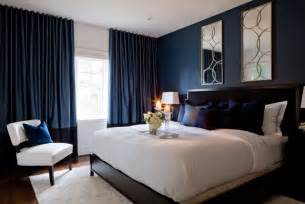 Pillar Designs For Home Interiors Jane Lockhart Bedroom With Dark Navy Walls Transitional