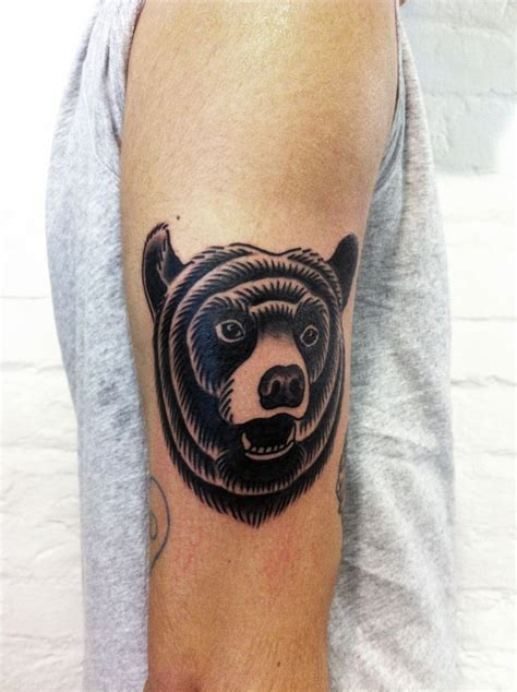 traditional bear tattoo 50 best osos images on tattoos