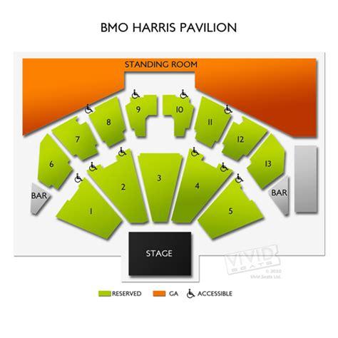 bmo harris seating chart bmo harris pavilion seating chart seats