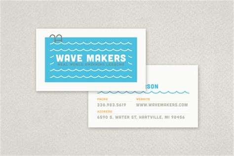 Swimming Pool Business Card Templates by Swimming Pool Business Card Template Inkd