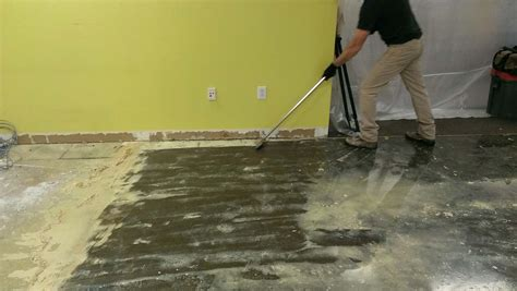Removing Carpet Adhesive From Cement Floor   removing