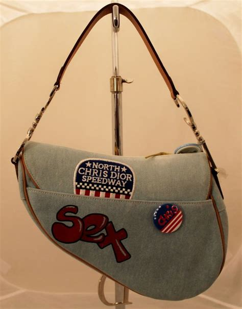 Christian Designer Christian Limited Edition Saddle Bags by Christian Quot Speedway Quot Denim Limited Edition Saddle Bag