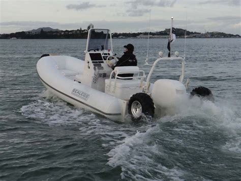 sealegs boat video sealegs 6 1 sport rib hibian review trade boats australia